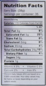 mocafe arctica nutrition facts