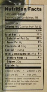 mocafe cookies and cream frappe nutrition facts