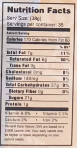 mocafe coffee frappe nutritional facts